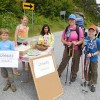 We had a nice treat of maple lemonade and chocolate cookies before we headed north at App Gap on July 26.
