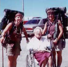 1997 Cara Nelson and Amity Robichaud with their Grandmother Catherine Clifford