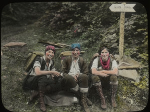 Hand-colored photograph taken by Theron S. Dean of The Three Musketeers